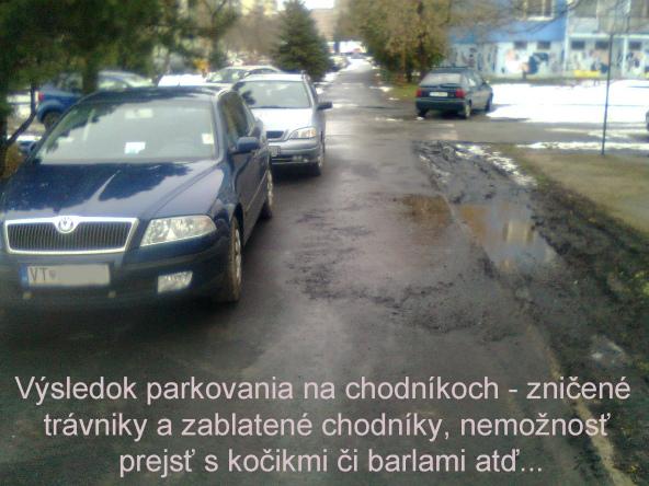 parkovanie na chodnikoch